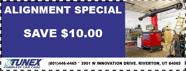 SAVE $10 OFF any Alignment