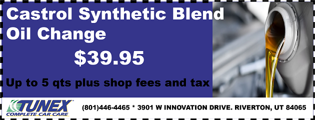 Castrol Synthetic Blend Oil Change, only $39.95