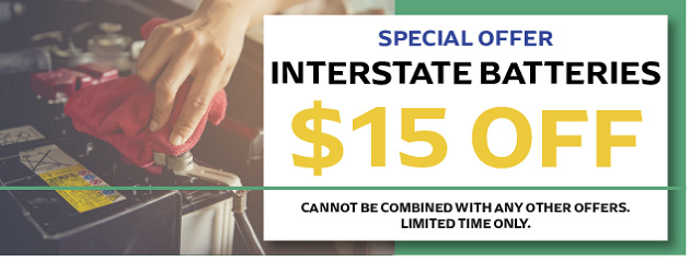 $15 OFF Interstate Batteries!
