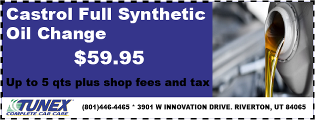 Castrol Full Synthetic Oil Change, only $59.95