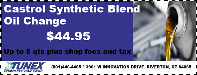 Castrol Synthetic Blend Oil Change, only $44.95